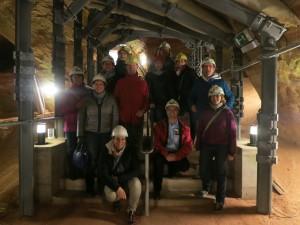 In den Schlossberghöhlen in Homburg