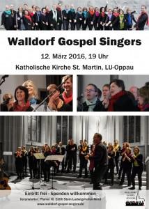 Plakat Konzert am 12.3.2016 um 19 Uhr in LU-Oppau