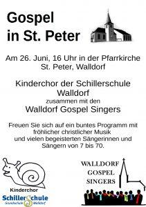 Konzert am 26.6. um 16 Uhr mit dem Kinderchor in der kath. Kirche Walldorf