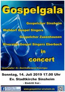 Gospelgala 14.7. 17:00 in Ev. Stadtkirche Sinsheim